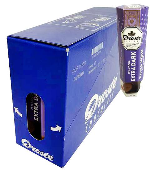 Droste Rolls Extra Dark Chocolate - 75% Cocoa (80g x 12pc Box)