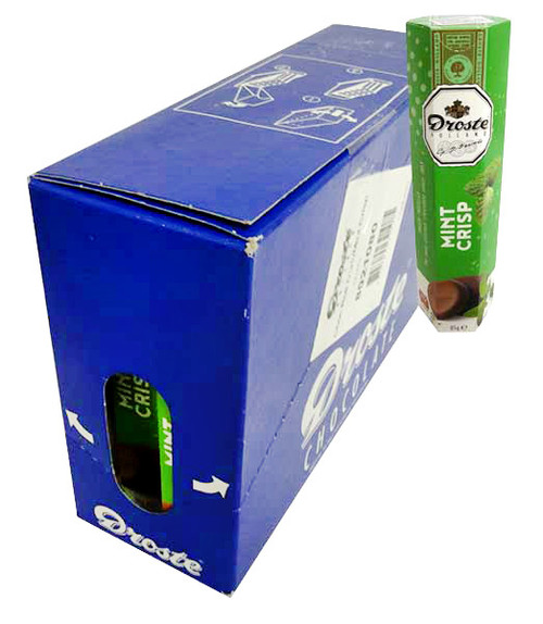 Droste Rolls Dark Chocolate / Mint Crisp (85g x 12pc Box)