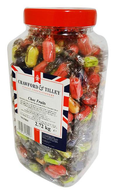 Tilleys choc fruits Wrapped (2.72kg Jar)