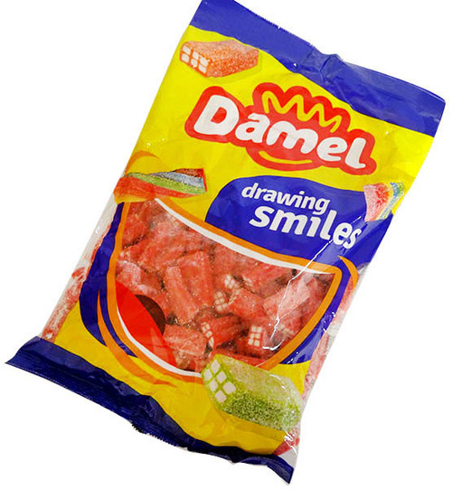 Damel Strawberry Bricks, by Damel,  and more Confectionery at The Professors Online Lolly Shop. (Image Number :16039)