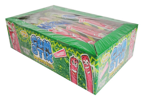 JoJo Gum Stix - Sour Strawberry, by JoJo,  and more Confectionery at The Professors Online Lolly Shop. (Image Number :16436)
