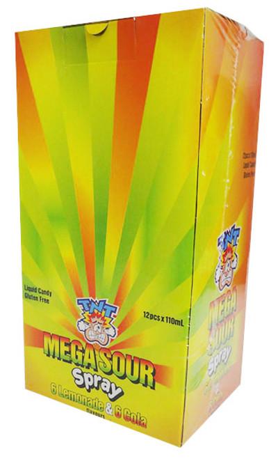 TNT Mega Candy Sour Spray - Cola and Lemonade (12 x 110ml)