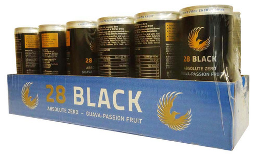 28 Black Energy Drink - Guava -Passionfruit Sugar Free (12 x 250ml Cans in a Display Unit)