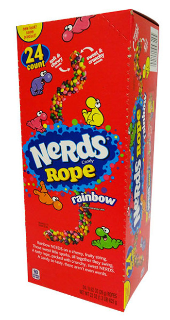 Nerds Rope Rainbow and more Confectionery at The Professors Online Lolly Shop. (Image Number :16866)