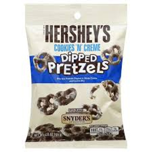 Hersheys Cookies N Cream Dipped Pretzel, by Hersheys,  and more Confectionery at The Professors Online Lolly Shop. (Image Number :15487)