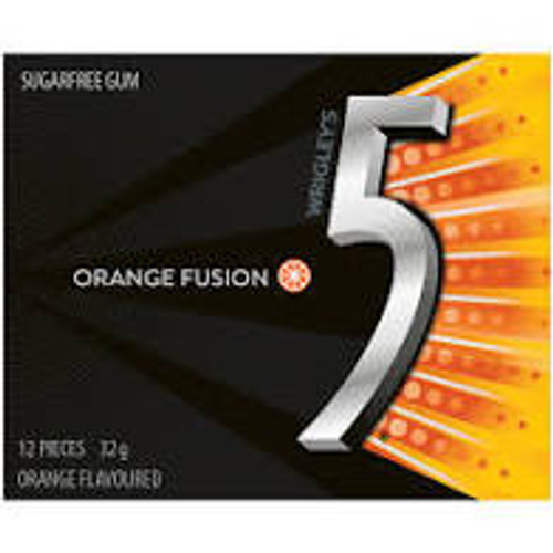 Wrigleys 5 Gum - Orange Fusion, by Wrigley,  and more Confectionery at The Professors Online Lolly Shop. (Image Number :15503)