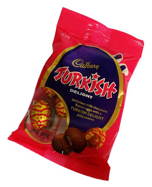 Cadbury Turkish Delight Mini Eggs  (117g bag - Approx 10 eggs per bag)