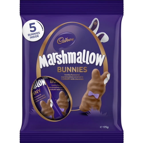 Cadbury Vanilla Marshmallow bunny Share pack, by Cadbury,  and more Confectionery at The Professors Online Lolly Shop. (Image Number :15557)