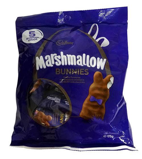 Cadbury Vanilla Marshmallow bunny Share pack, by Cadbury,  and more Confectionery at The Professors Online Lolly Shop. (Image Number :15723)