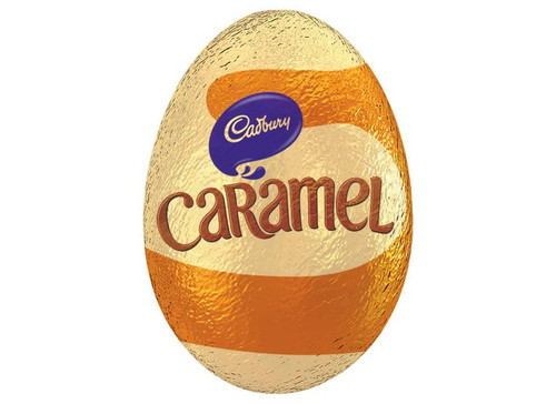Cadbury Caramel Egg - Single, by Cadbury,  and more Confectionery at The Professors Online Lolly Shop. (Image Number :15695)