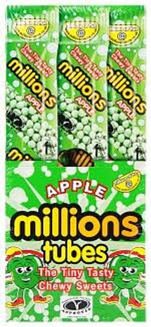 Millions Tubes  Apple and more Confectionery at The Professors Online Lolly Shop. (Image Number :15568)