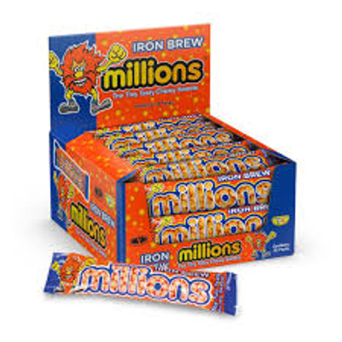 Millions Iron Brew and more Confectionery at The Professors Online Lolly Shop. (Image Number :15573)