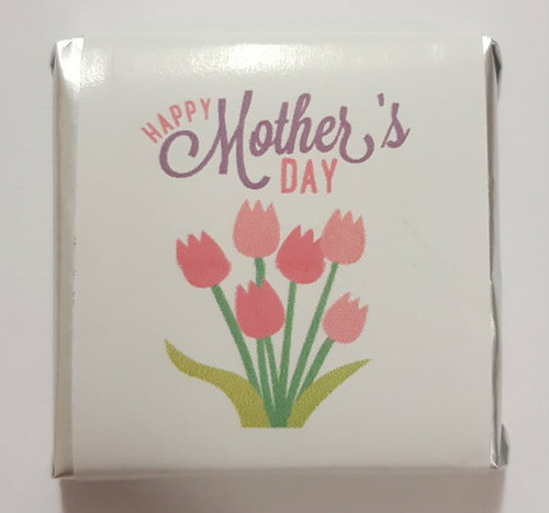 Mothers Day Belgian Chocolate - Tulip Motif and more Confectionery at The Professors Online Lolly Shop. (Image Number :15577)