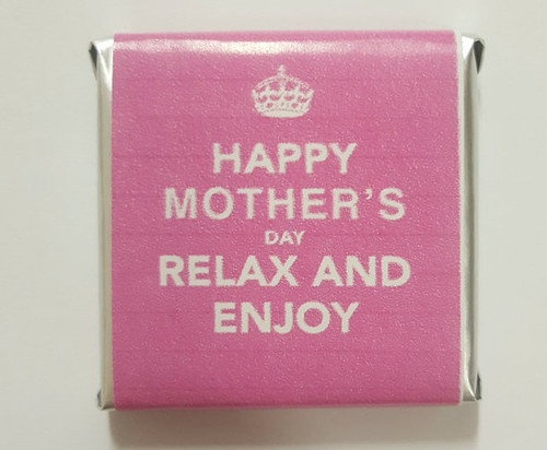 Mothers Day Belgian Chocolate - Keep Calm Motif and more Confectionery at The Professors Online Lolly Shop. (Image Number :15578)