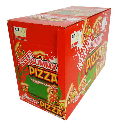 Super Gummy Pizza, by AIT Confectionery,  and more Confectionery at The Professors Online Lolly Shop. (Image Number :16543)