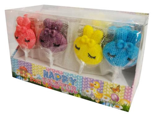 Easter Bunny Knitted Candy Lollipops (24 x 35g pops in a display box)