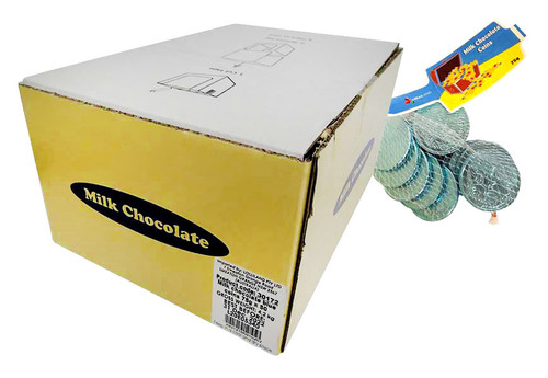 Lolliland Milk Chocolate Coins - Blue (75g bag x 50pc box)