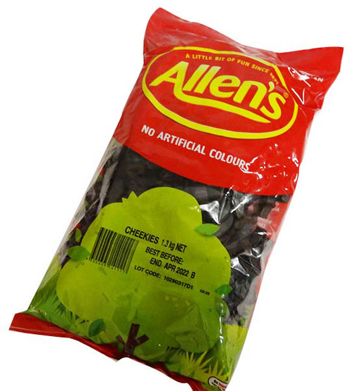 Allens Cheekies, by Allens Confectionery,  and more Confectionery at The Professors Online Lolly Shop. (Image Number :15927)