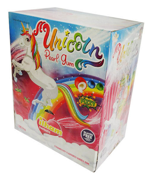 iLham Sweets - Unicorn Pearl Gum - Fizzy (200 pieces in a display unit)