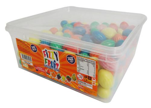iLham Sweets - Fizzy Fruit Bubble Gum (1.1kg  Tub- Approx 200pc)