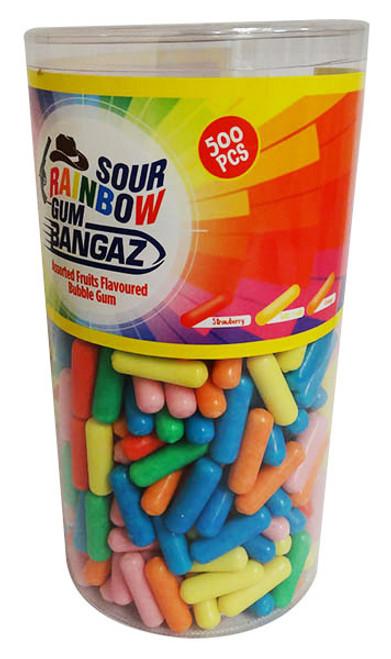iLham Sweets - Sour Rainbow Gum Bangaz (1.75kg  Tub - Approx 500pc)