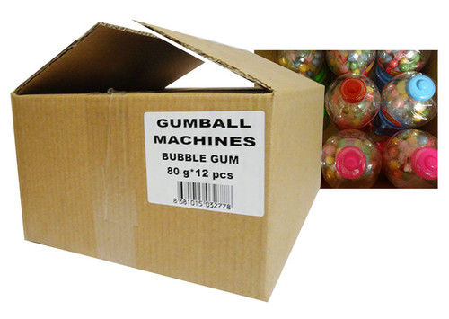 A.I.T Gumball Machines - Assorted Coloured Machines (80g per machine x 12pc box)