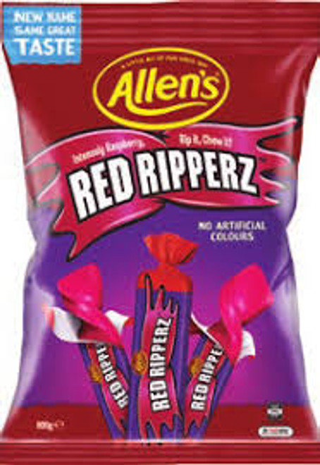 Allens Red Ripperz, by Allens Confectionery,  and more Confectionery at The Professors Online Lolly Shop. (Image Number :15729)