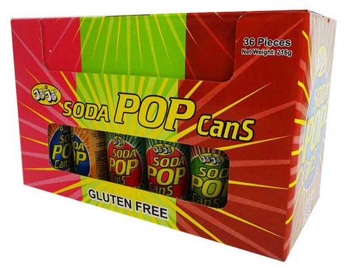 JoJo Soda Pop Cans and more Confectionery at The Professors Online Lolly Shop. (Image Number :15968)