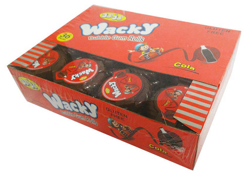 Wacky Bubble gum Rolls - Cola and more Confectionery at The Professors Online Lolly Shop. (Image Number :15973)