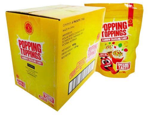 Dollar Sweets Popping Topping - Rainbow(6 x 150g Bag)