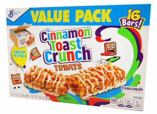 Cinnamon Toast Crunch Treats (16 x 24g bars in a box) - B/B 1/6/21