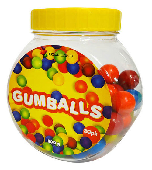 Lolliland Gum Balls (800g of balls in a jar)
