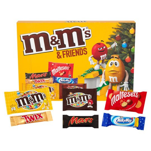 M&Ms & Friends Medium Selection Box, by Mars,  and more Confectionery at The Professors Online Lolly Shop. (Image Number :16481)