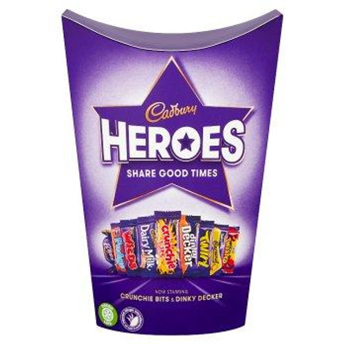 Cadbury Heroes Small Carton, by Cadbury,  and more Confectionery at The Professors Online Lolly Shop. (Image Number :16483)
