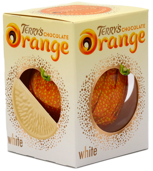 Terrys Chocolate Orange White and more Confectionery at The Professors Online Lolly Shop. (Image Number :16484)