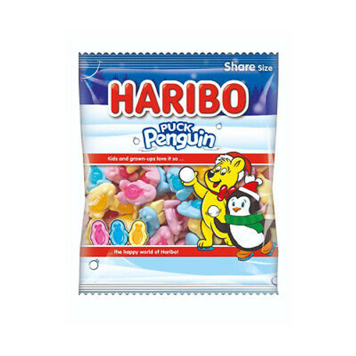 Haribo Puck Penguin, by Haribo,  and more Confectionery at The Professors Online Lolly Shop. (Image Number :16490)