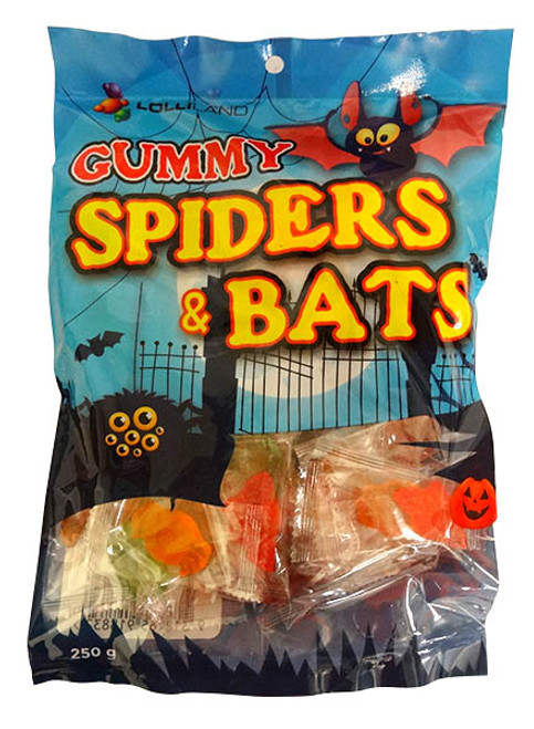 Lolliland Gummi Bats & Spiders, by Lolliland,  and more Confectionery at The Professors Online Lolly Shop. (Image Number :17136)