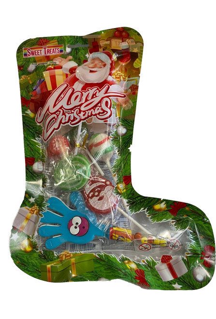 Sweet Treats Christmas Stocking, by Brisbane Bulk Supplies,  and more Confectionery at The Professors Online Lolly Shop. (Image Number :17194)
