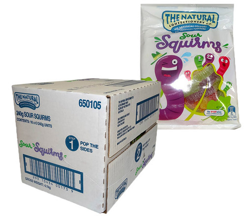 The Natural Confectionery Co. - Sour Squirms, by The Natural Confectionery Co.,  and more Confectionery at The Professors Online Lolly Shop. (Image Number :9702)