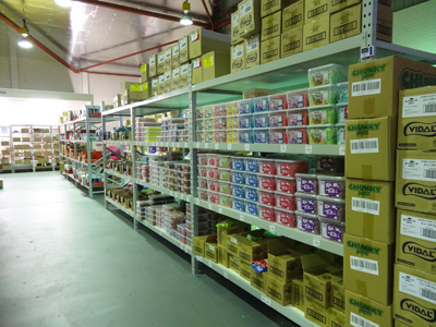 Our lolly warehouse is over 600sqm