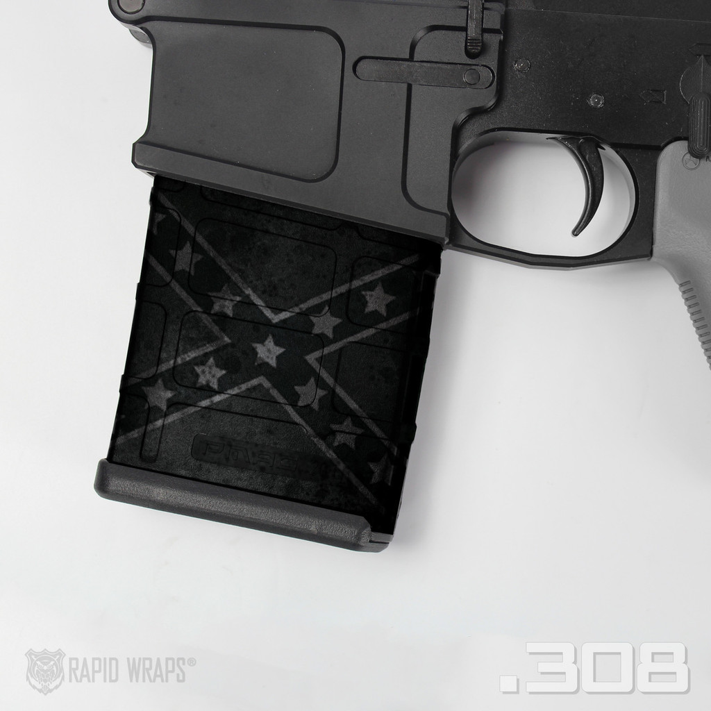 Confederate Flag Stealth Black