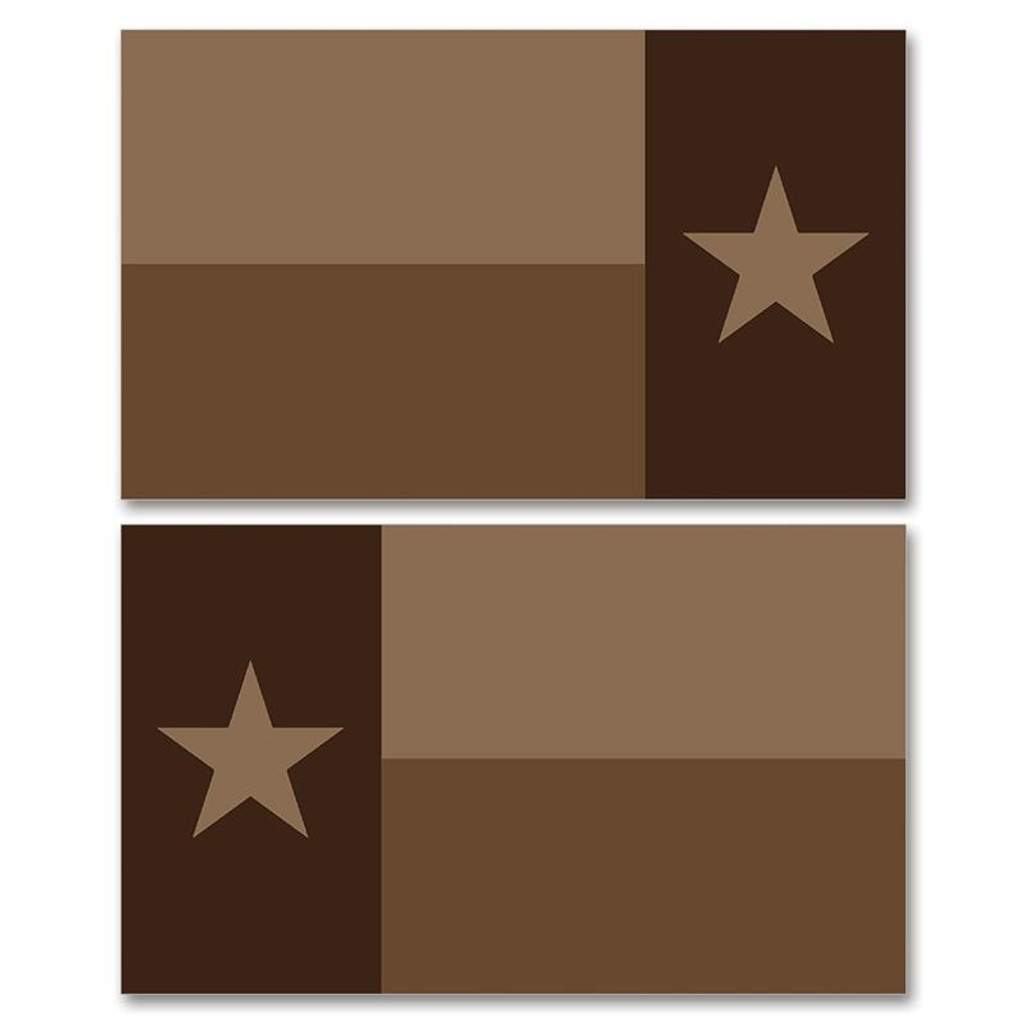 Texas Tan Flag Clean