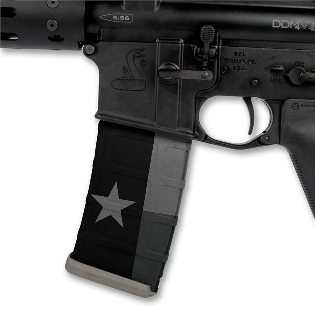 Texas Flag Stealth Black