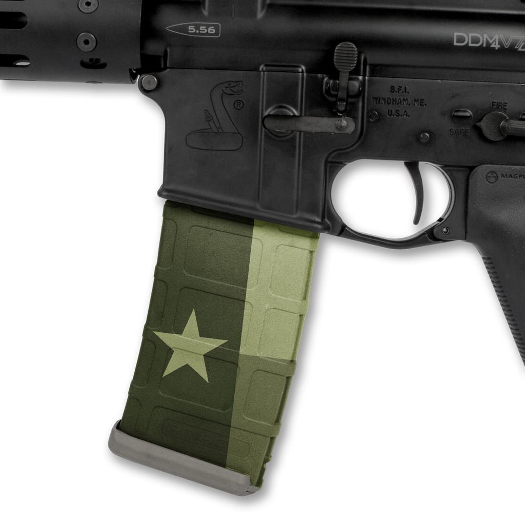 Texas Flag OD Green