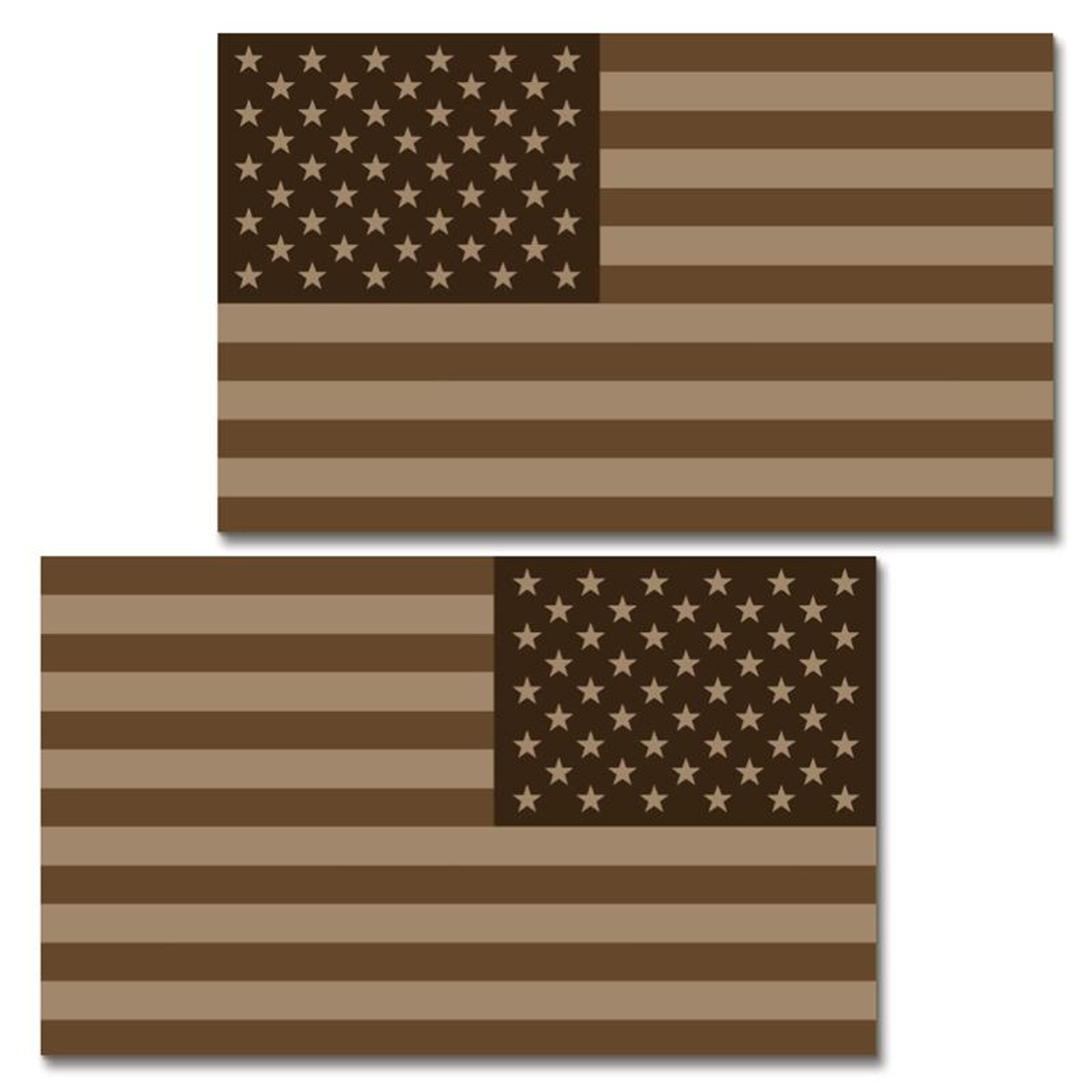USA Tan Flag Clean