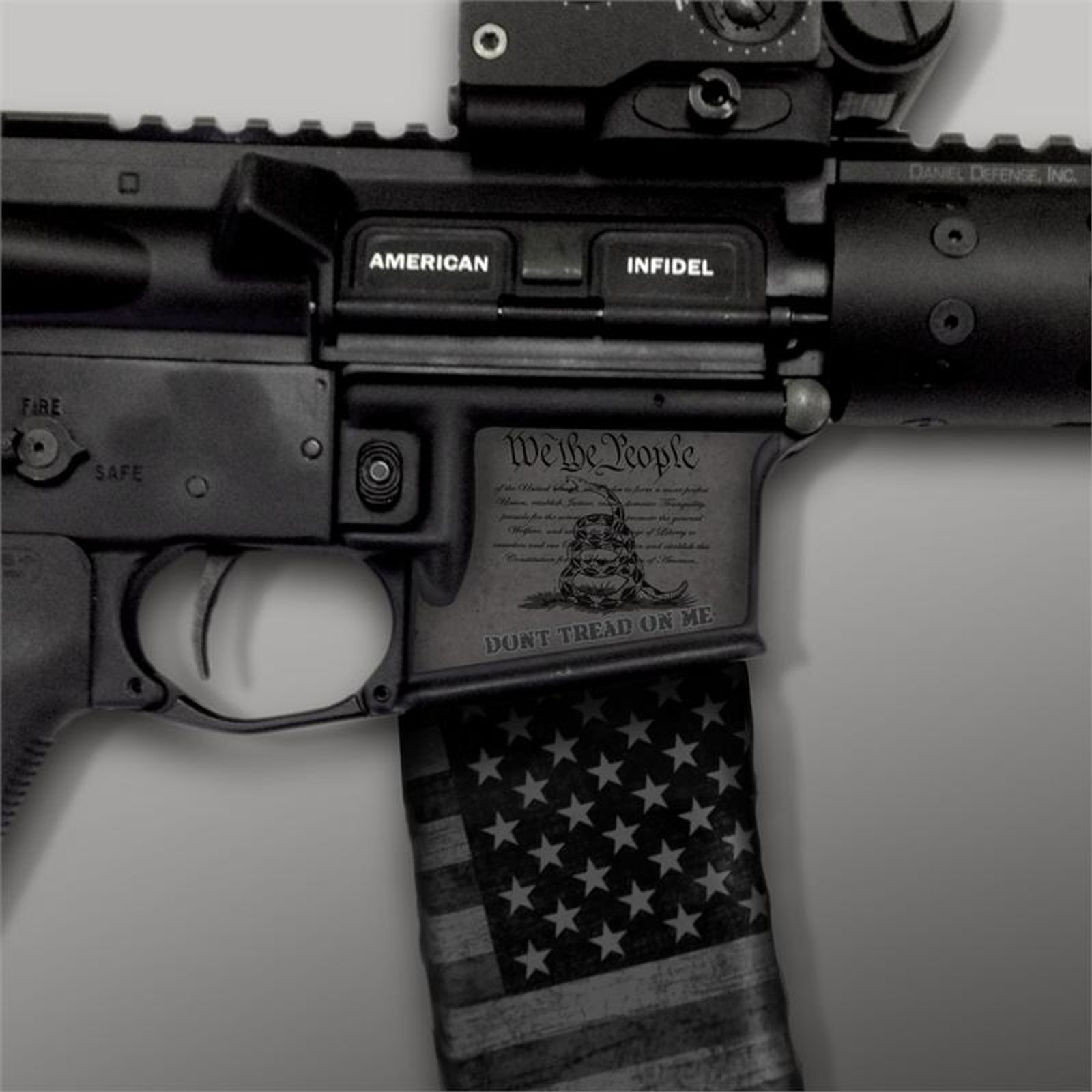 Don't Tread On Me Stealth Black