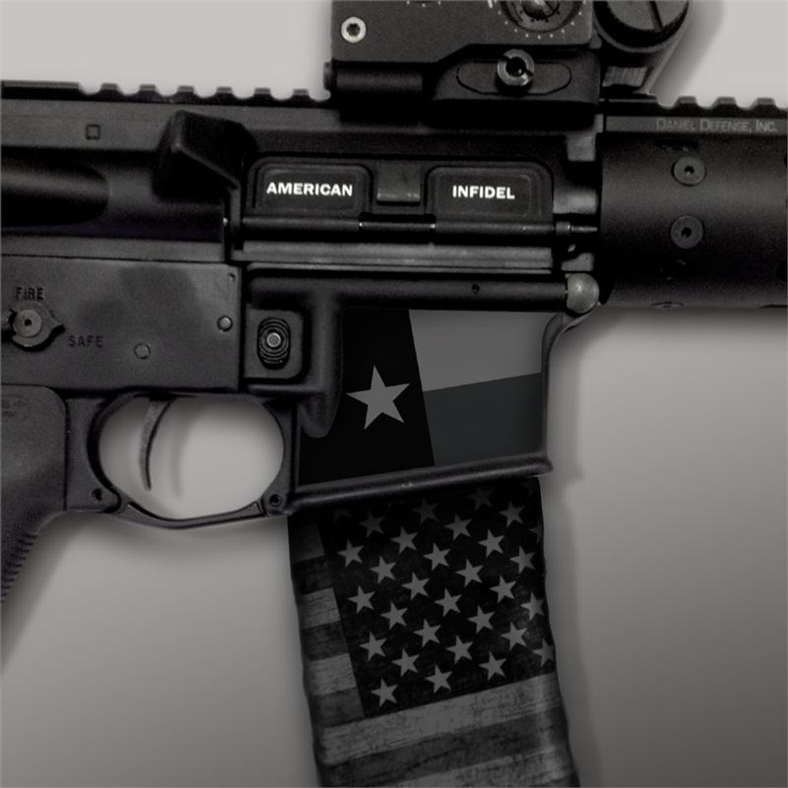 Texas Flag Stealth Black