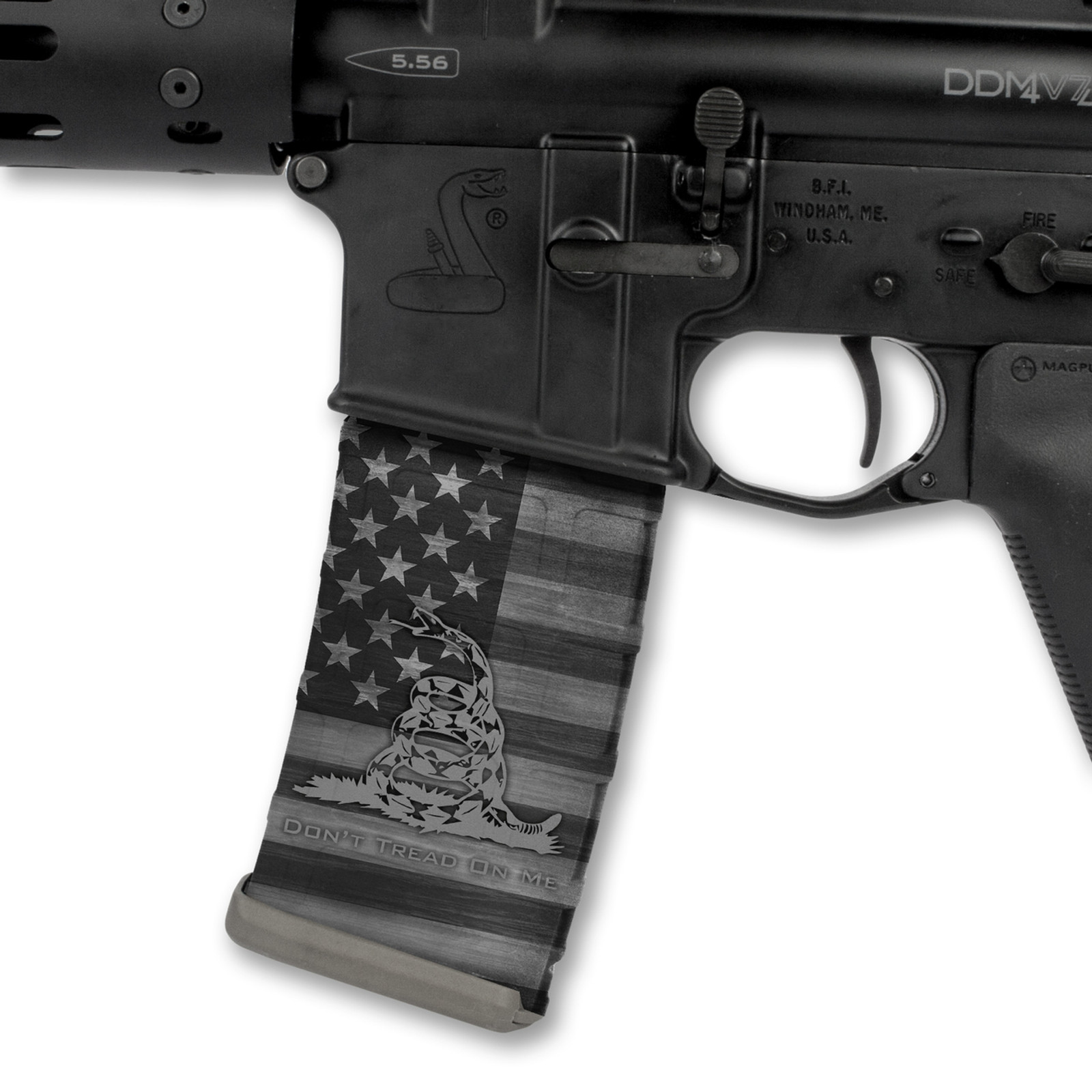 American Flag DTOM Stealth Black