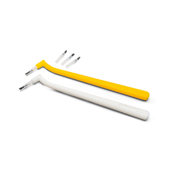Brush Tips, 24mm length, 500/Bag + 2 Handles