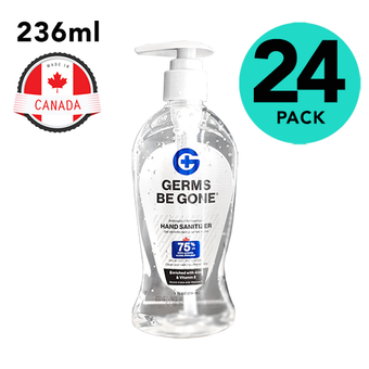 24 Pack of Germs Be Gone 236ml Sanitizer With Pump